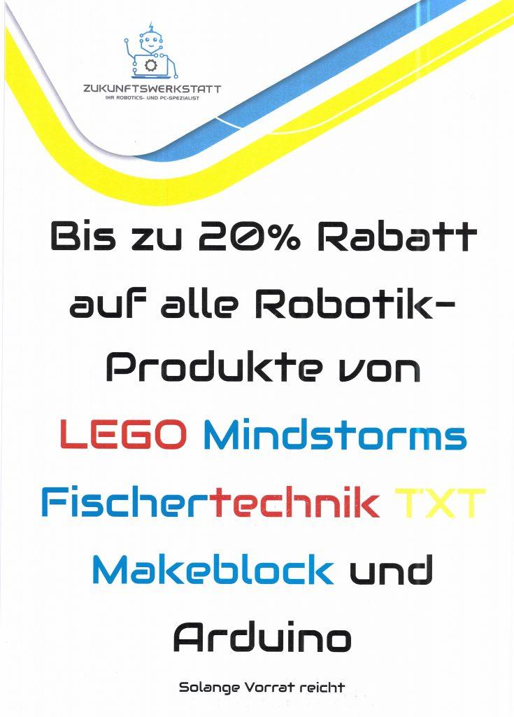 Zukunftswerkstatt Pforzheim Angebot 20 Prozent Fischertechnik Lego Mindstorms